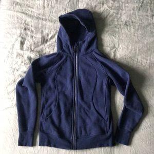 Lululemon scuba hoodie, size 8, navy heather